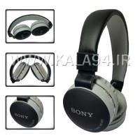 هدفون بلوتوثی SONY MS-881 جدید / بی سیم و با سیم / 5 دکمه و قابل مکالمه / رم خور Micro / دور گوش و سر بسیار نرم / کیفیت و وضوح بالا