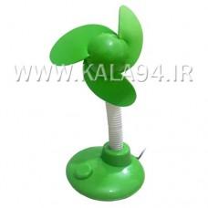 پنکه USB رومیزی / فانتزی / پاور دار / ایستاده و قابل تنظیم / اتصال از درگاه USB و یا باطری قلمی