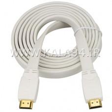 کابل 1.5متر HDMI فلت پرسرعت سرطلایی Full HD