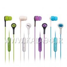 ایرفون PUMA PM-324 / طرح SPORT / میکروفون دار و دکمه دار / رنگی