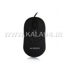 ماوس سیمی Activex MX22 / ارگونومیک / اپتیکال / 1200DPI / کیفیت بالا