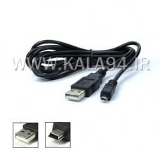 کابل 1 متری USB به ذوزنقه / یا کابل دوربین و یا کابل شارژ اسپیکر شارژیا / ضخیم / تک پک